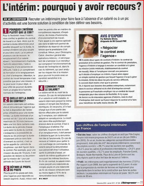 Interview NO l'entrepreneur