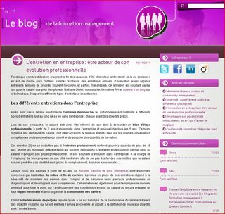 Interview nathalie olivier sur le blog de la formation management
