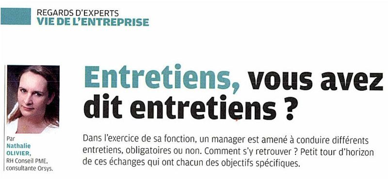 Interview - nathalie olivier -  courrier cadre octobre 2012