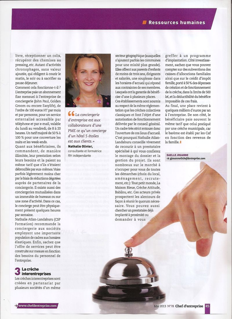 Interview nathalie olivier chef d'entreprise mai 2013  - 2
