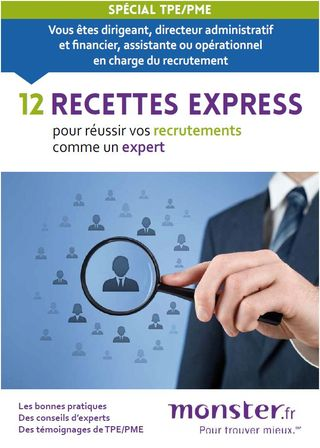 Guide monster sur le recrutement